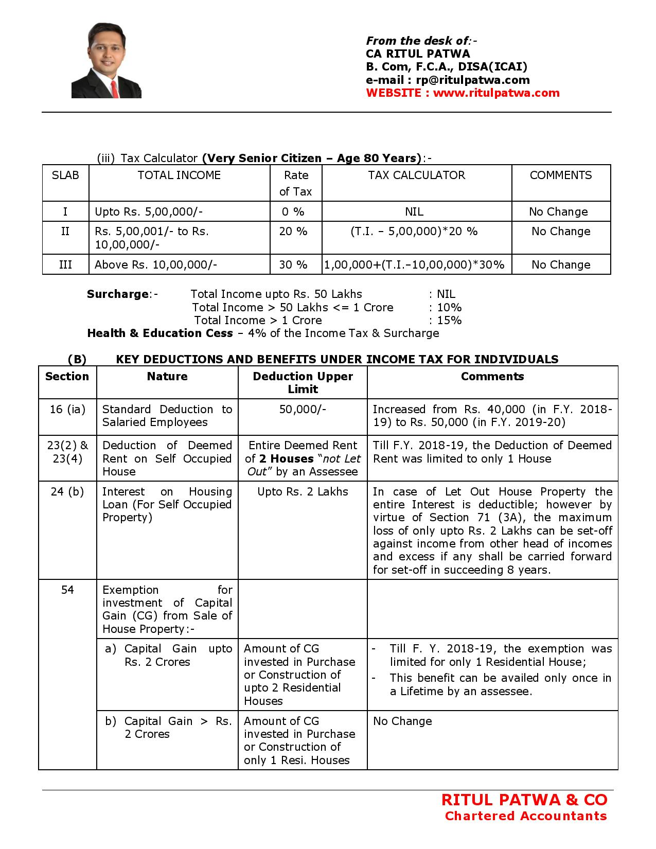 BUDGET 2019 - INCOME TAX RATE, DEDUCTION & PROVISIONS-page-002