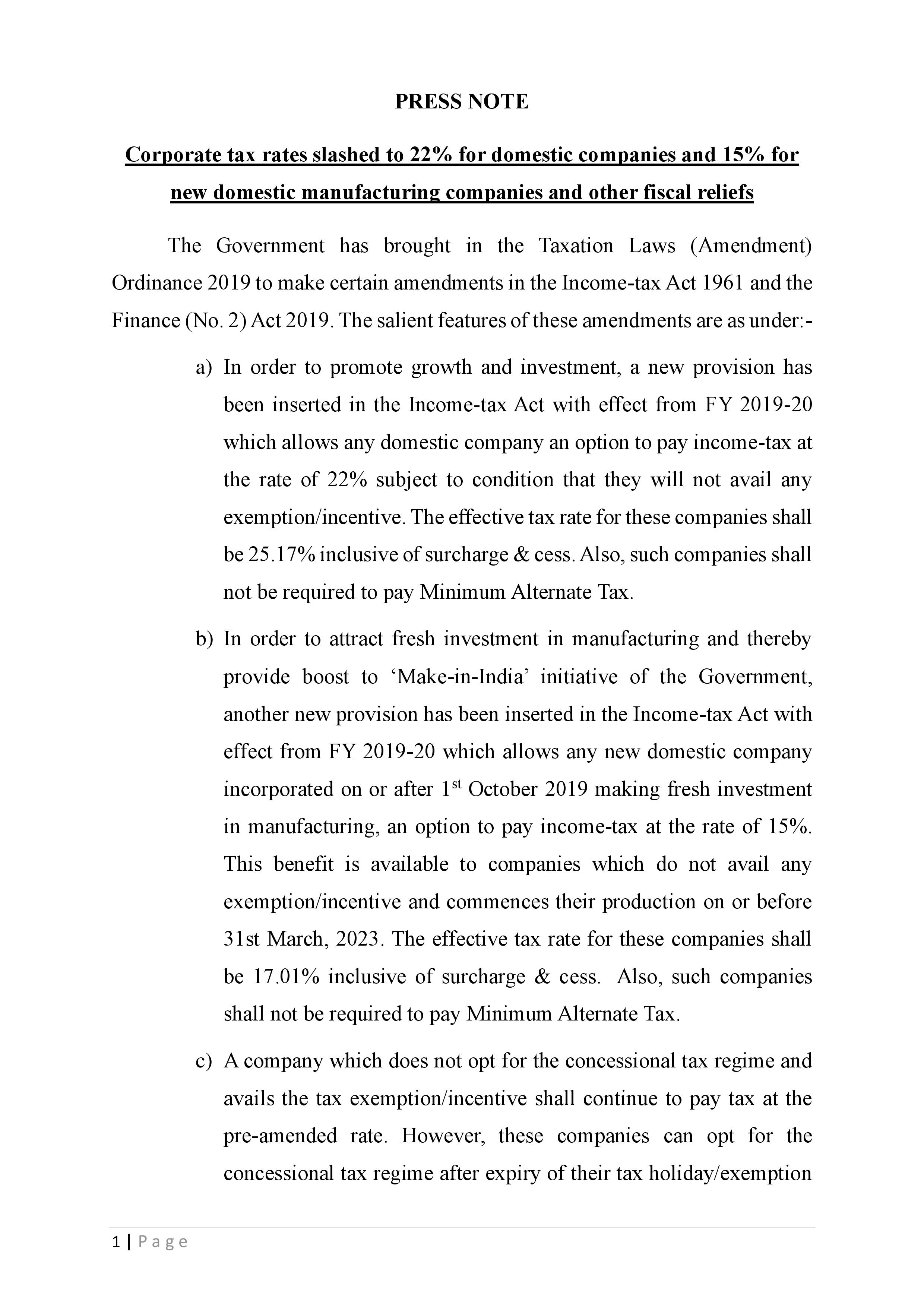 Economic Booster Page 1